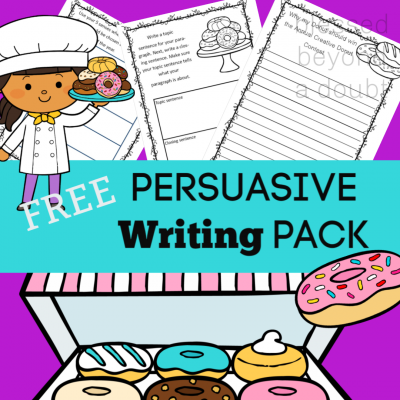 Free Persuasive Writing Packet – The Annual Creative Donut Contest