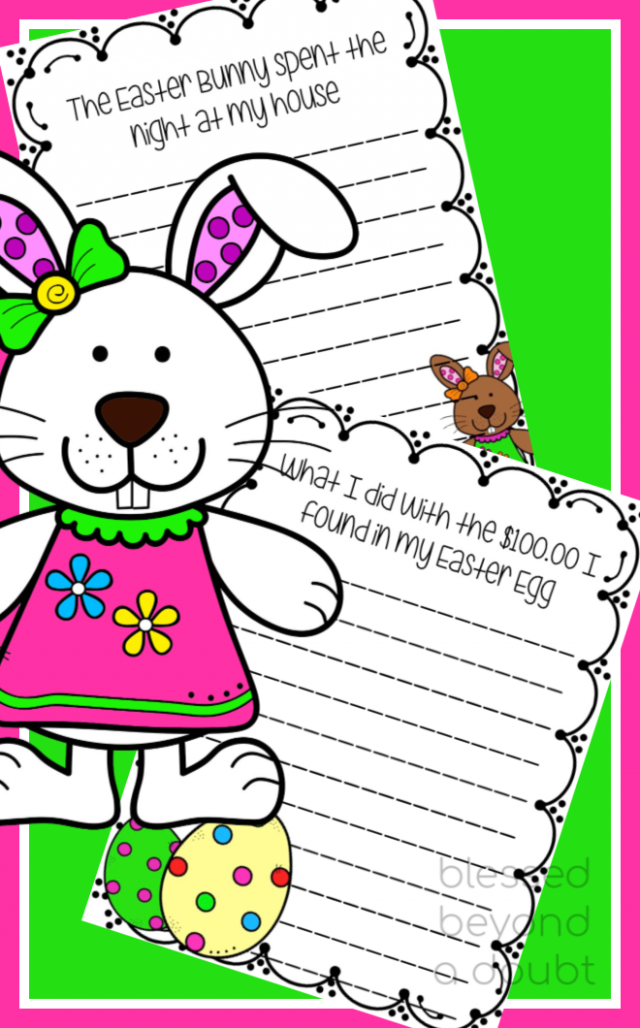 Grab these cute Easter writing prompts. Be sure to check out the fun craft that goes along with these free writing prompts.