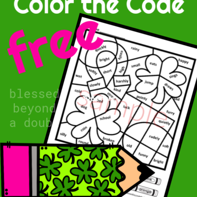 Free Parts of Speech Worksheets – St. Patrick's Day Edition