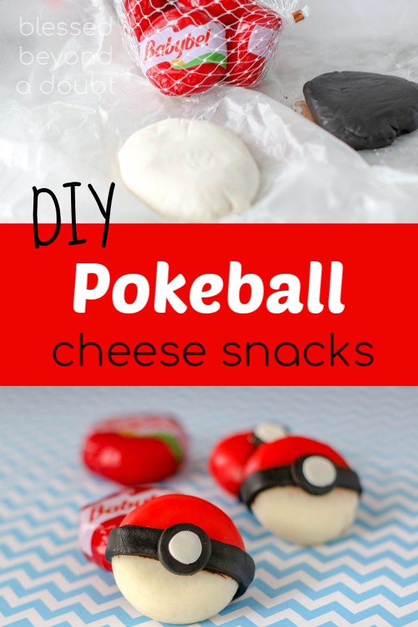 Be the the cool mom on the block and make these easy DIY Pokeball cheese snacks. #pikachu