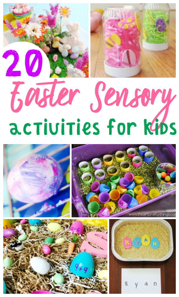 Check out all the Easter Sensory activities for kids. There are so many fun kid-friendly sensory ideas.