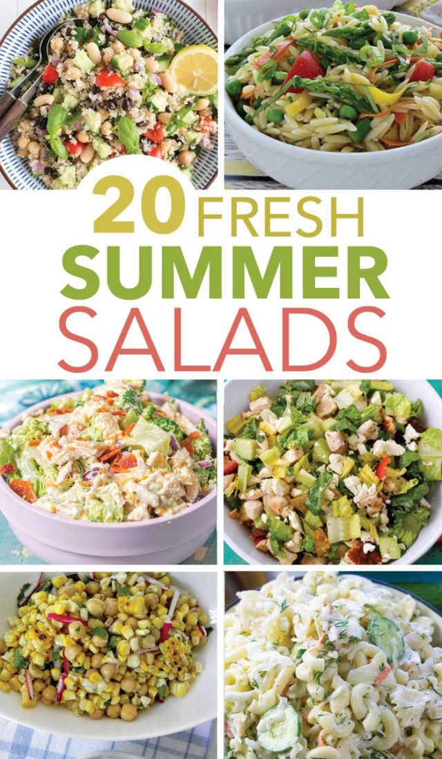 There's nothing easier than making an easy summer salad to go along with your favorite piece of grilled meat. Check out these easy Summer Salads for BBQ