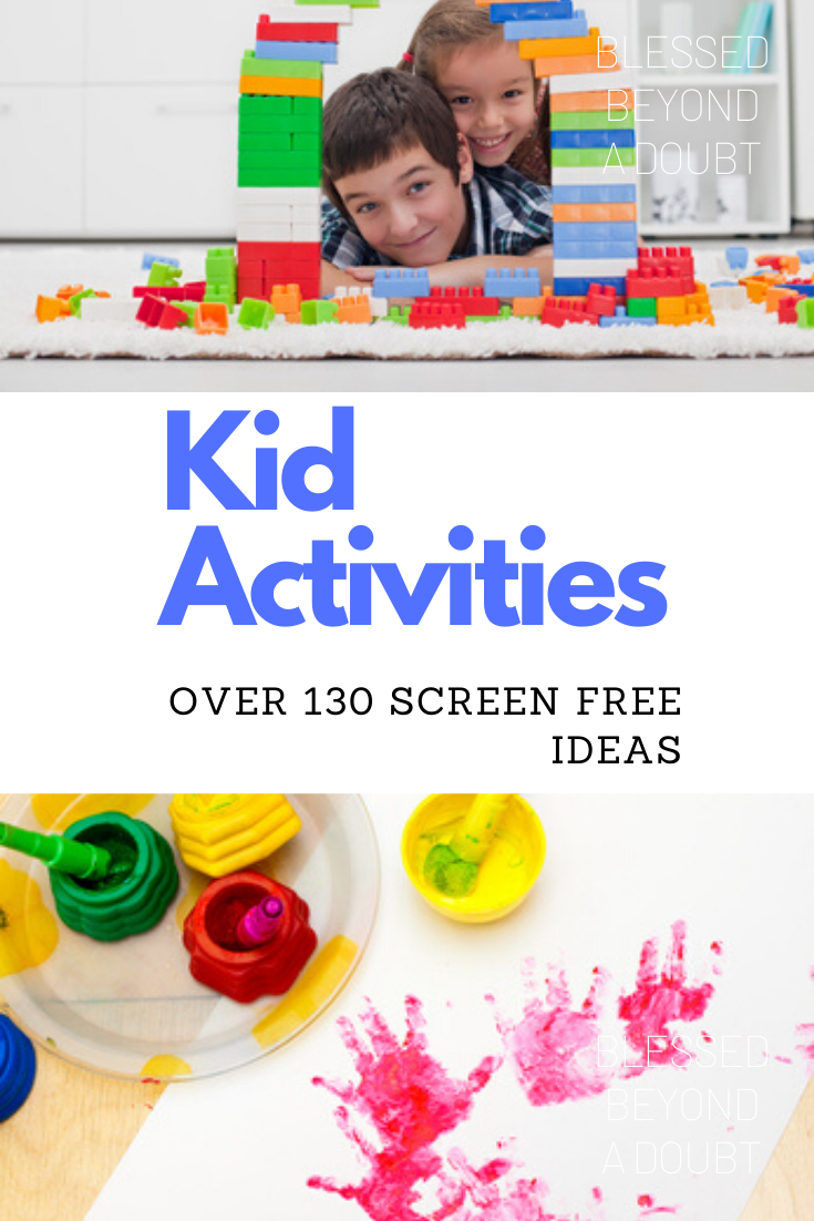 Here is the ultimate list of kid's activities to do at home during the school closures. So many fun screen free activities to keep you sane. #kidsactivitiesindoorelementary #kidactivitiesfun #kidcraftseasy #kidideasactivities