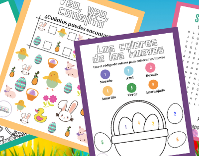 Free Easter Activities in Spanish for Kids