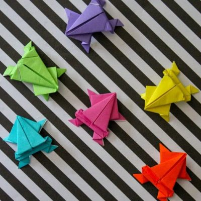 Free Jumping Origami Frog Instructions