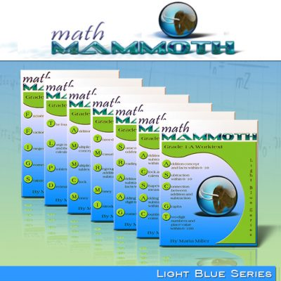 Win Math Mammoth Light Blue Series! Math Worksheets for Grades 1-7