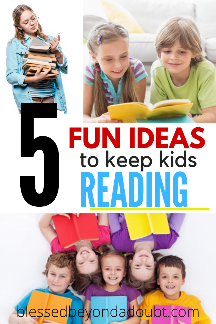 Being a reading teacher I've been asked how to keep your kids reading. Here are my 5 favorite fun ways I encourage my own children to read. They work for the classroom too. #gettingkidstoread #gettingkidstoreadathome #howtogetkidstoread #homeschool #schoolclosure #parents
