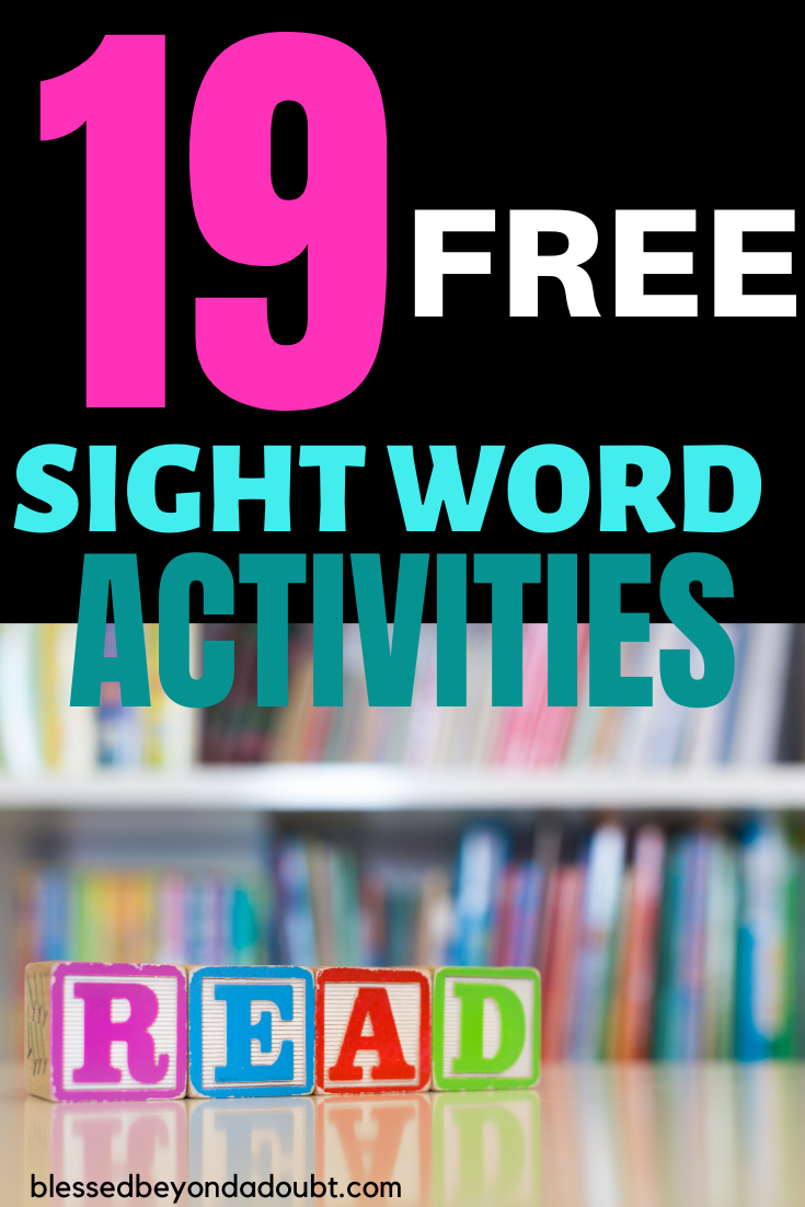 Don't let teaching sight words give you a headache. These 19 sight word activities will help student's master their sight words in no time. #sightwordactivites #sightwordactivitesgames #sightwordgames #sightwordkindergarten #sightwordspreschool #sightwordpractice