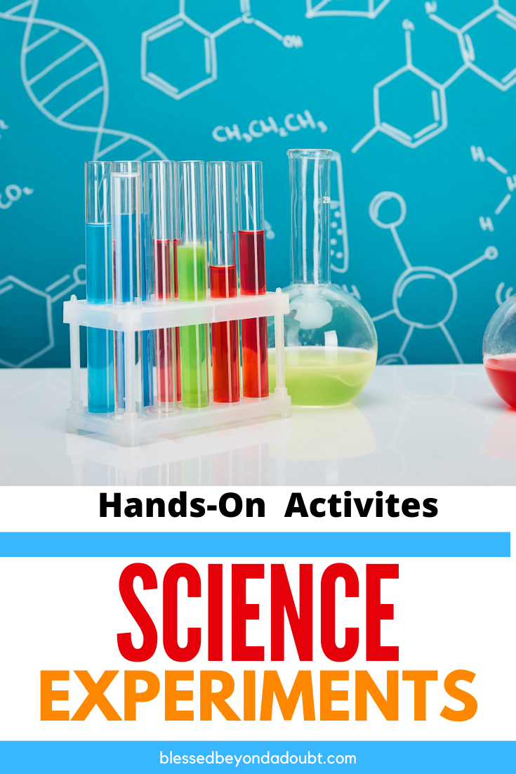 Teach your kids about science with these simple science activities with items that you have at home. Which science activity will you try first? #scienceexperimentskids #science #distantlearning #scienceactivitiesforkids #scienceactivitiespreschool #distantlearningideas #homeschool