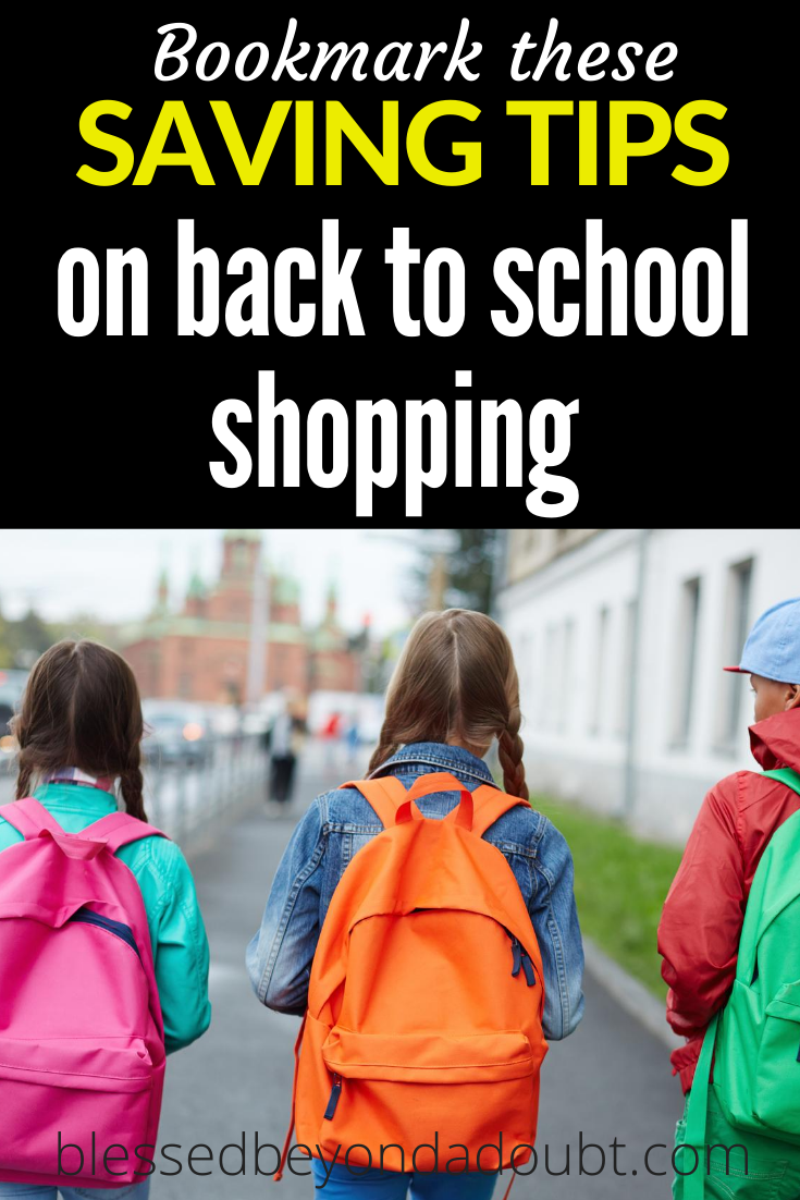 Be sure to check out these incredibly easy back to school shopping tips that will save you big money. Check out #4. #backtoschoolclothesshoppingtips #backtoschoolhacks
