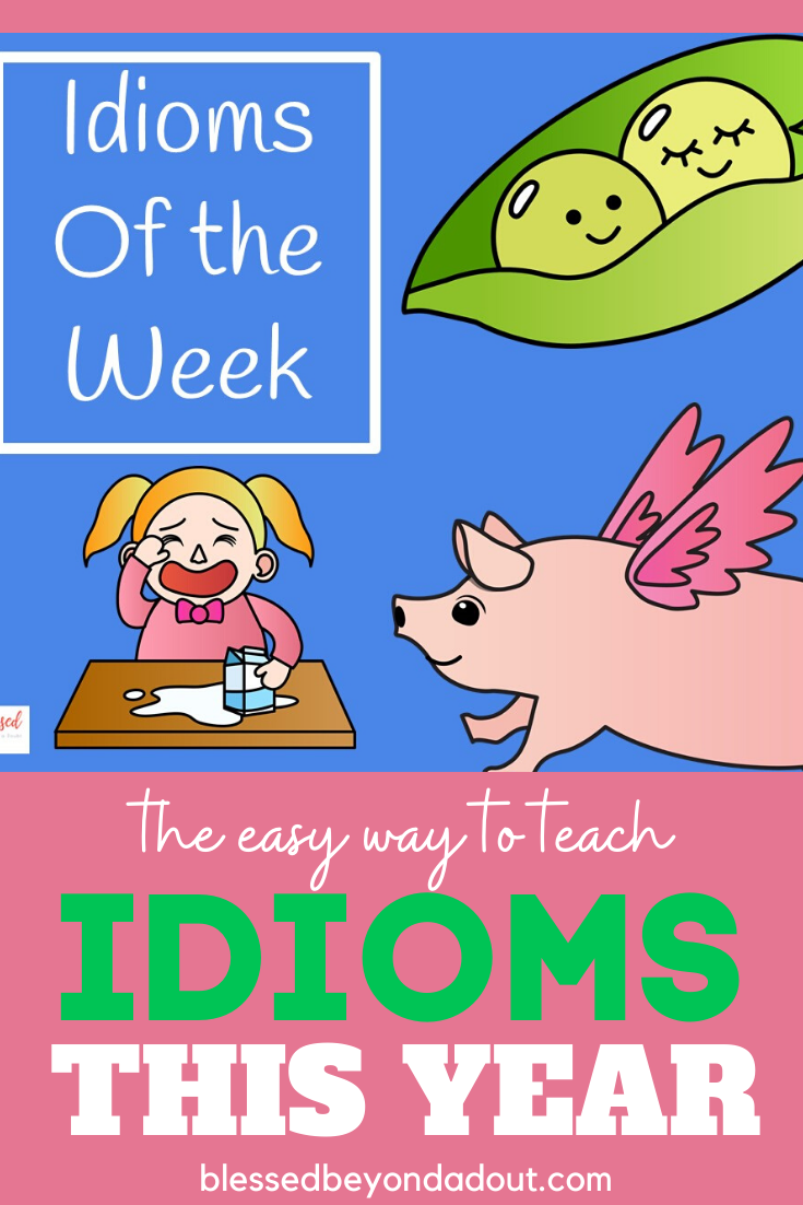 Learn how to teach idioms for kids the easy way with these FREE Idiom Posters. #idiomsandphrases #idiomsmeaning #idiomsenglish