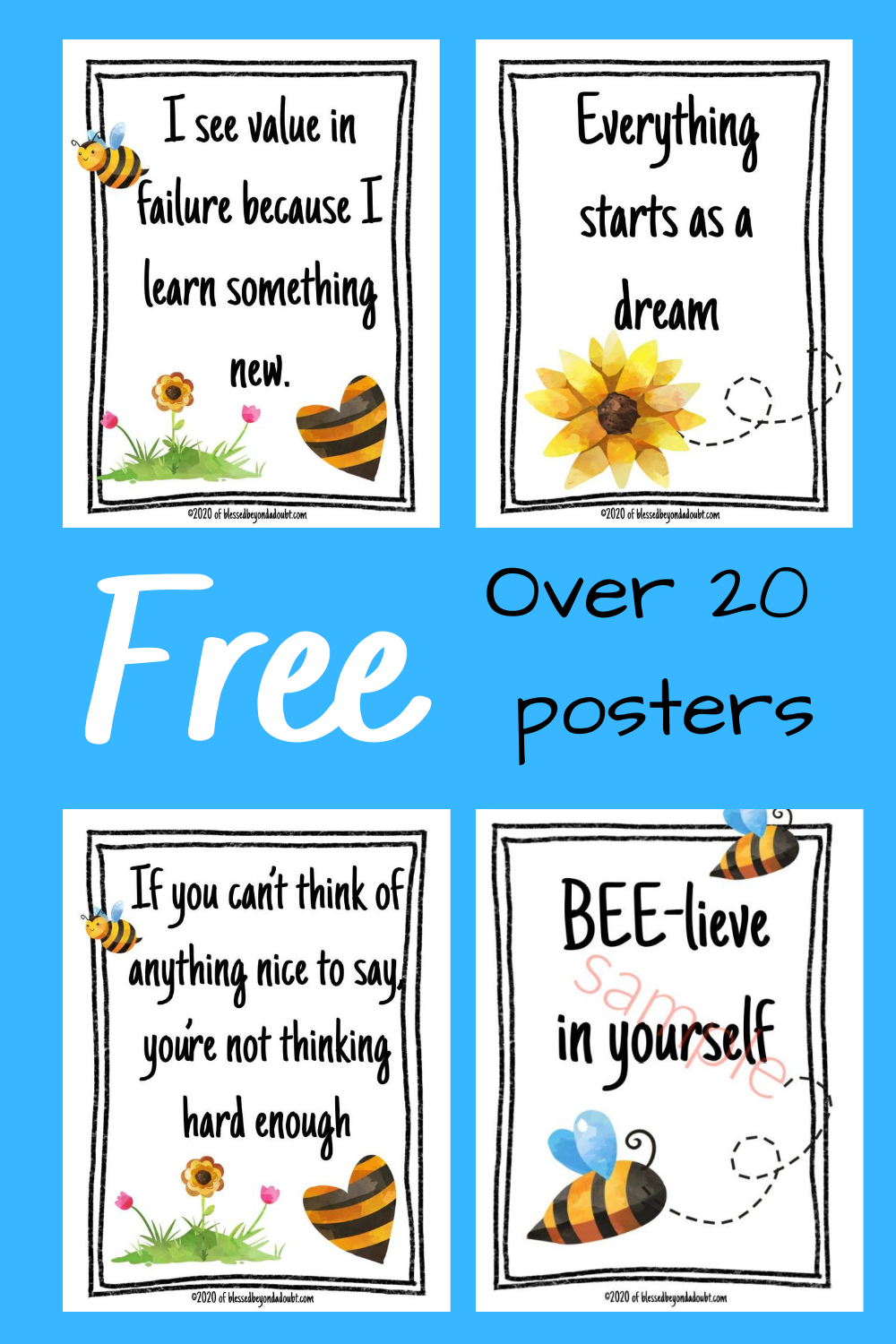 Here are 2 sets of FREE Growth Mindset Posters for classroom. There are over 20 different encouraging quotes. Pick and choose which ones work in your classroom. #growthmindset #growthmindsetquotes #growthmindsetactivities #growthmindsetbulletinboard #growthmindsetbulletinboardfree #growthmindsetquotes #growthmindsetquotesforkids #growthmindsetquotesforkidsposter #growthmindsetbulletinboard
