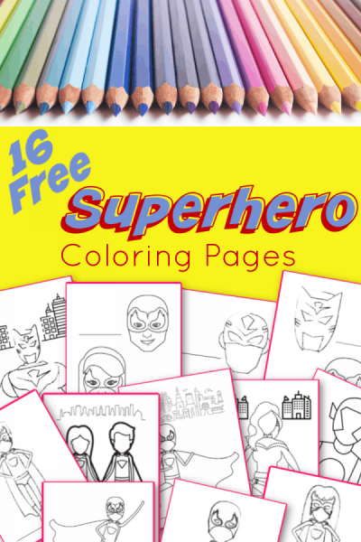 Free Superhero Coloring Pages - Blessed Beyond A Doubt