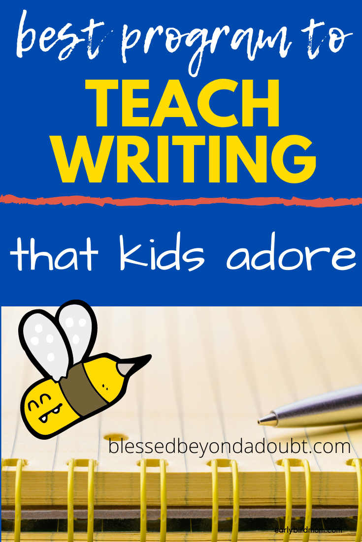 The most fun way to learn how to write! Your students will love it! This is the program that made my son love to write. #teachwritingelementary #howtoteachwriting #homeschool #writingcurriculumhomeschool #homeschoolwritingcurriculumhighschool #homeschoolwritingcurriculummiddleschool