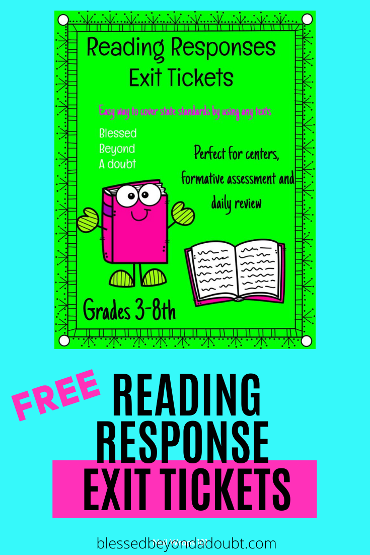 Hurry and grab these free reading response activities for grades 3-8th grade. Use these reading response sheets for centers or exit tickets. #readingresponsequestions #readingresponsesheets #readingresponseworksheets #readingresponseworksheets #readingresponsejournals