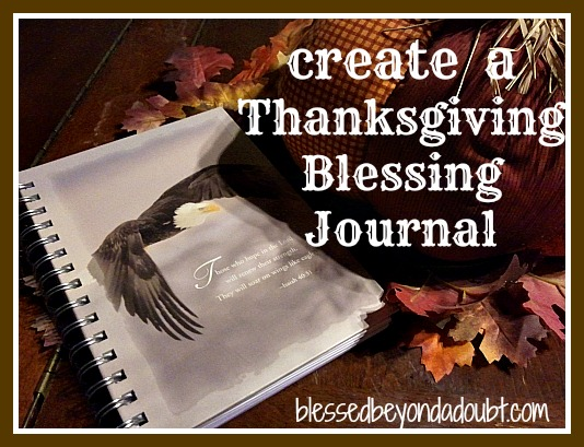 Thanksgiving Blessing Journal Keepsake