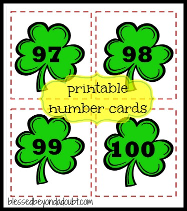 number cards printables