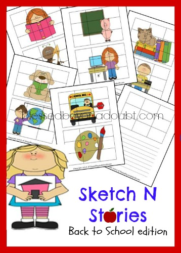 FREE Sketch N Stories - Back to School