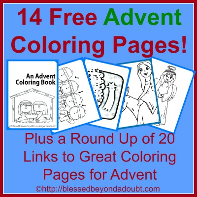 Printable advent coloring book coloring page for Free advent calendar coloring pages