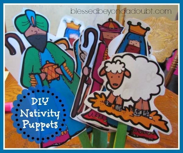 DIY Nativity Puppets