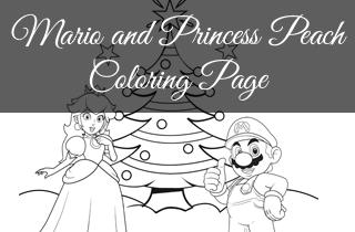 FREE Super Mario and Princess Peach Merry Christmas ...