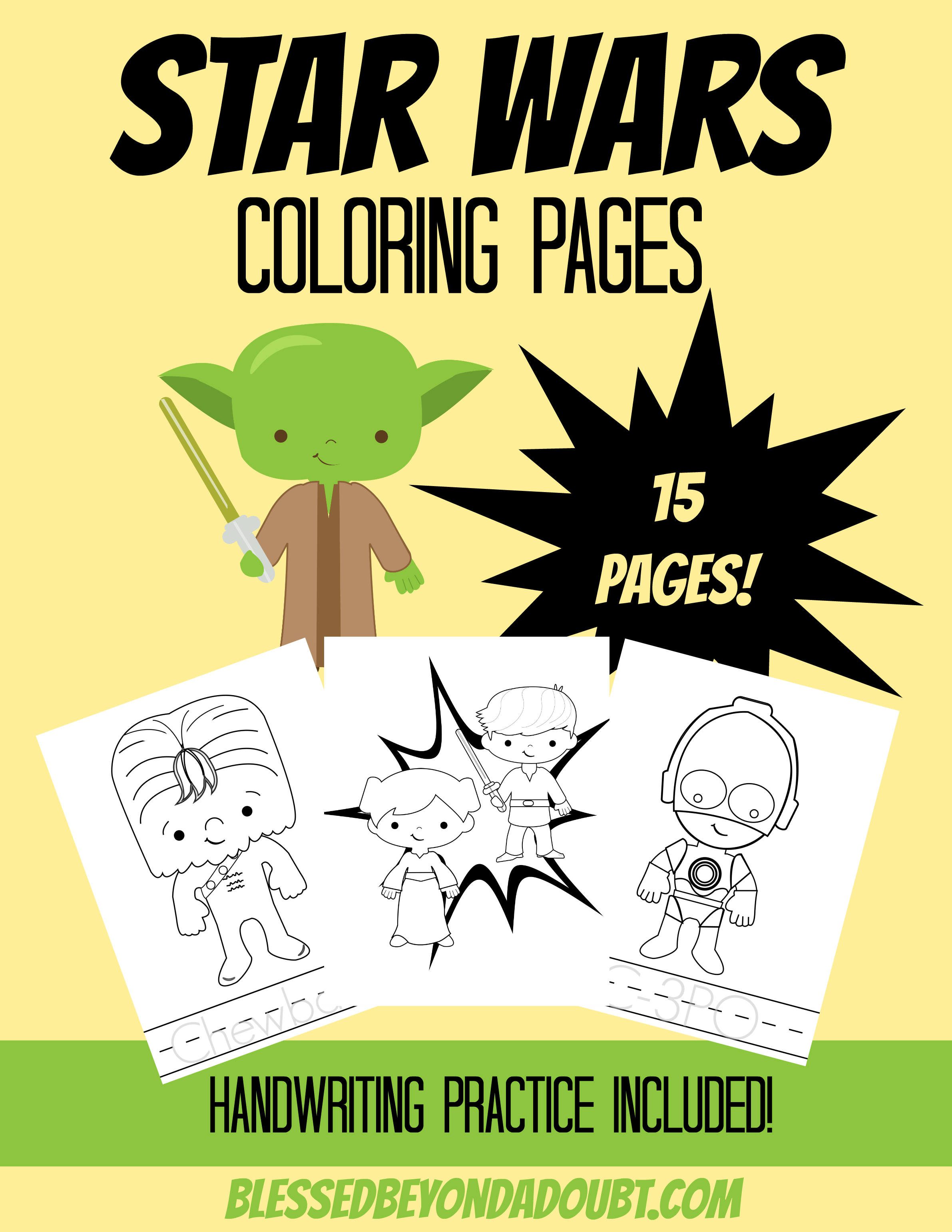 May The 4th Be With You Star Wars Coloring Pages Blessed Beyond A Doubt
