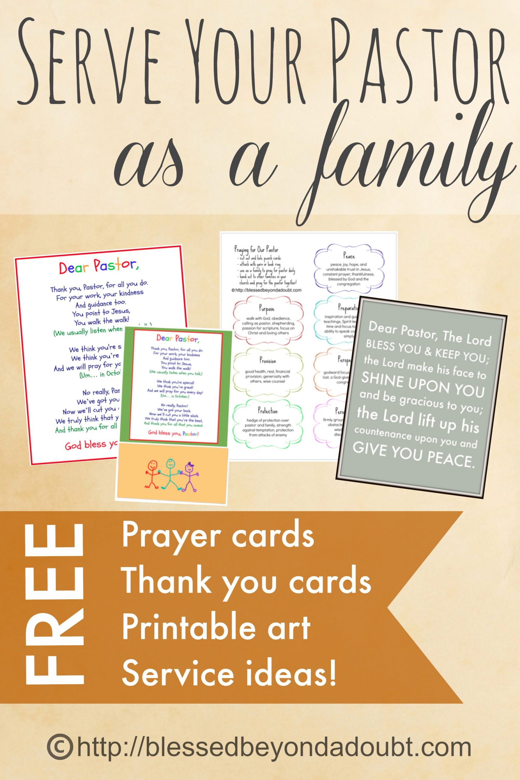 Printables and ideas to help your family bless your pastor.