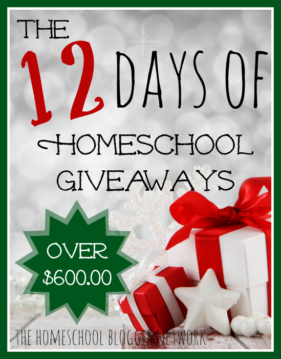 The 1st Annual 12 Days of Homeschool Giveaways begins in just a few days!!! Don't miss a single day for your chance to win!!