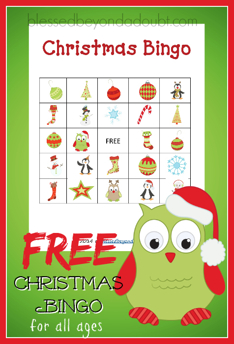 This is a picture of Dashing Free Printable Christmas Bingo Cards for Large Groups