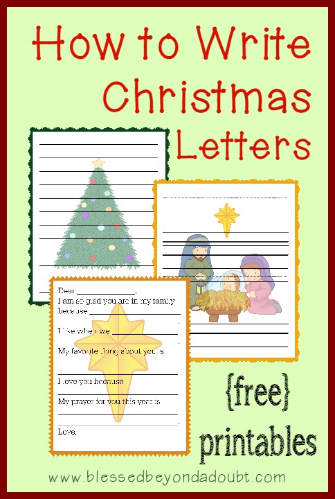 How to Write Christmas Letters with FREE Templates Family Fun