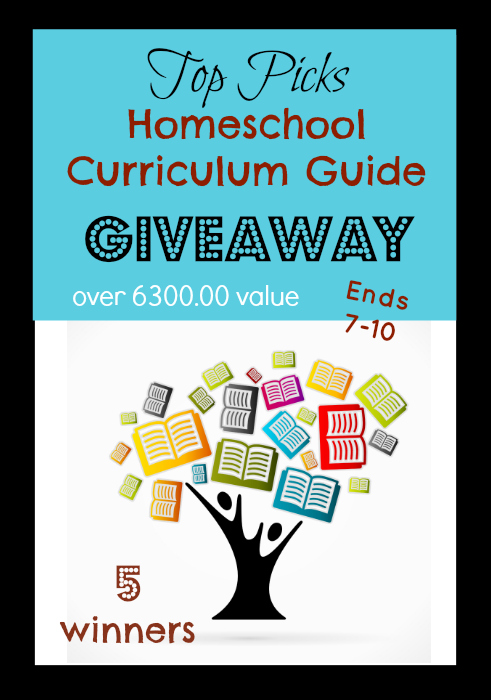 HUGE homeschool giveaway! We are looking for 5 winners! Giveaway value is retailed over 6300.00! Hurry and enter today!