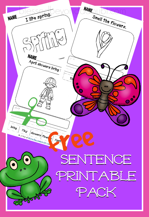 Grab these FREE Spring Printable Worksheets to help master the beginning of sentence structure.