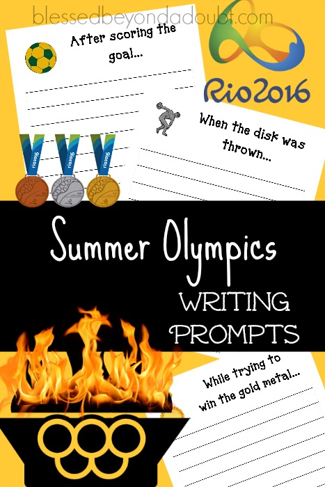 FREE Summer Olympics writing Prompt Printables.